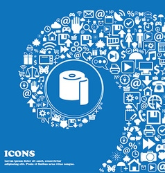 Toilet paper icon sign nice set of beautiful icons vector