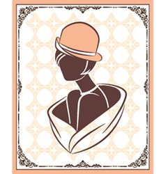Vintage fashion model vector image