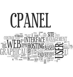 what is cpanel text word cloud concept vector image
