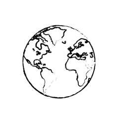 World earth map vector image