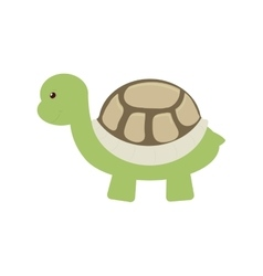 turtle toy pet funny icon vector image
