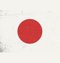 grunge japan flag abstract japan patriotic vector image