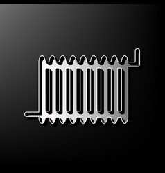 Radiator sign gray 3d printed icon on vector