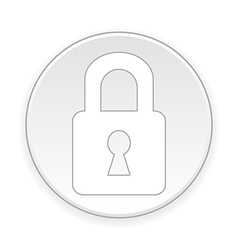 Lock button vector