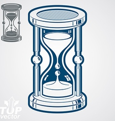 Eps8 high quality dimensional sand-glass ad vector