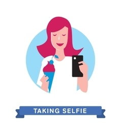 Take a photo selfie vector