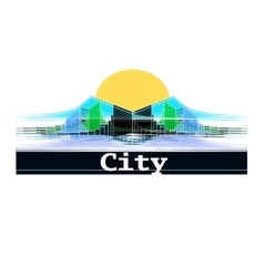 Abstract city logo for business vector