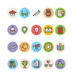 Education Colored Icons 7 vector image
