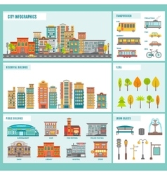 City buildings infographics vector
