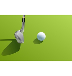 Iron and ball golf vector image