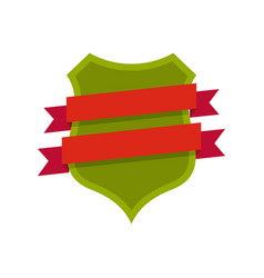 badge design icon flat style vector image vector image
