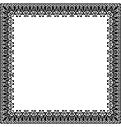 black lace frame vector image