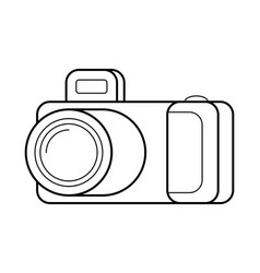 Camera line art simple gadget icon vector