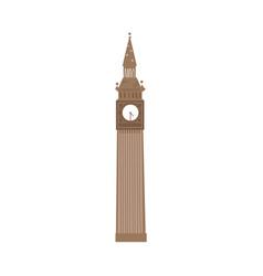 Cartoon big ben clock tower london england symbol vector