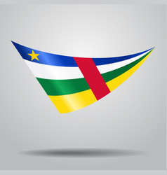 Central african republic flag background vector