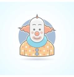 Circus clown joker funnyman icon vector