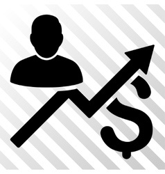 Client sales chart icon vector