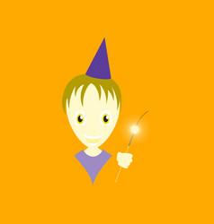 flat on background of child sparkler vector image