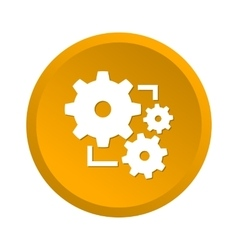 Gear yellow icon vector image