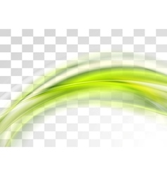 Green smooth blurred transparent waves vector