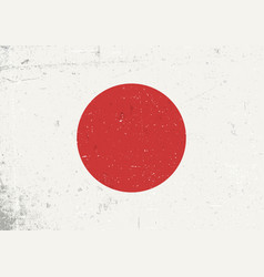 grunge japan flag abstract japan patriotic vector image vector image