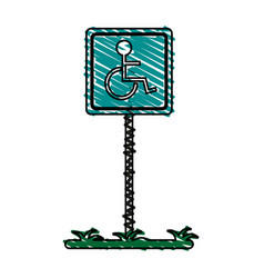 Handicap street sign vector