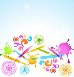 Holi festival celebration vector