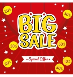Lettering hanging big sale special offer vector