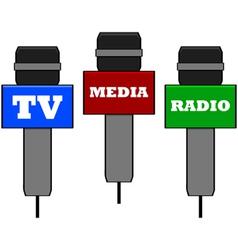 Media microphones vector image vector image