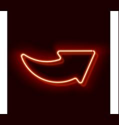 Neon arrow symbol vector image