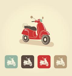 Retro scooter isolated italian style vector