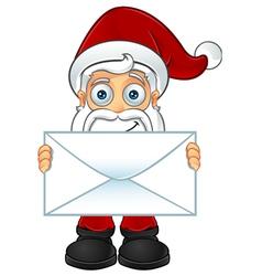 Santa Claus Holding Big Letter vector image