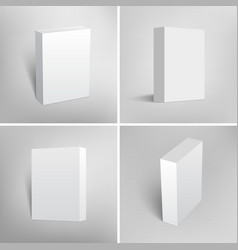 Set of blank white packaging boxes for software vector image