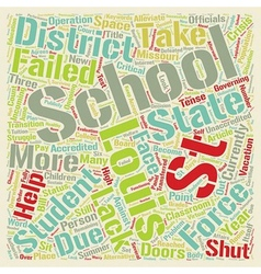 St louis schools text background wordcloud concept vector