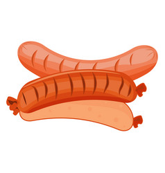 stack of cooked sausages food meat pork barbecue vector image
