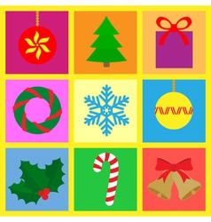 symbols with a christmas theme vector image vector image