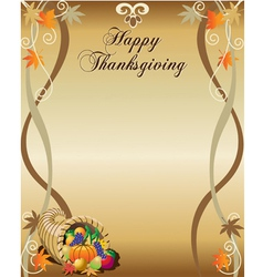Thanksgiving menu or stationary vector image vector image