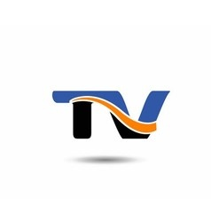 Tv company linked letter logo vector