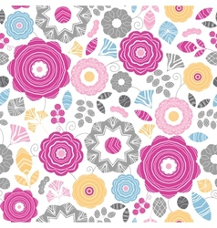 Vibrant floral scaterred seamless pattern vector image