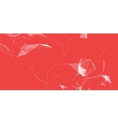 Virtual abstract background with particle vector image vector image