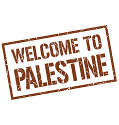 Welcome to palestine stamp vector