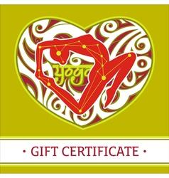 Yoga gift certificate 2 vector