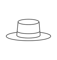 summer hat icon vector image