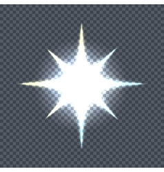 Glowing star sparkle light flashes shiny glitter vector