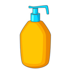 Bottle with liquid soap icon cartoon style vector