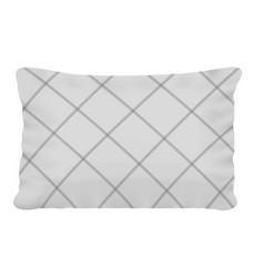 Rectangular pillow mockup realistic style vector