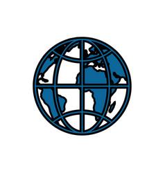 World earth isolated vector