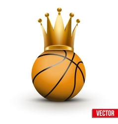 Basketball ball with royal crown of queen vector