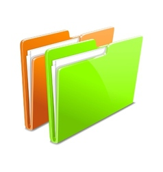Business case color documents file folder manager vector