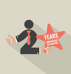 2nd years anniversary typography design vector